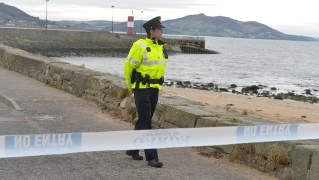 Garda at the Scene at the Pier in Buncrana Co Donegal, after Five people, including children, have died after a car went off a pier.  Picture Colm Lenaghan/  Pacemaker