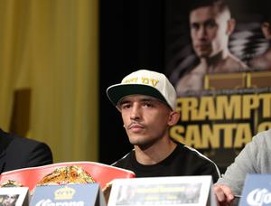 Press Eye - Belfast -  Northern Ireland - 26th January 2017 - Photo by William Cherry  Lee Selby during Thursdays press conference at the MGM Grand Hotel and Casino, Las Vegas. Leo Santa Cruz will meet Carl Frampton in the ring in a rematch for the WBA featherweight title at the MGM Garden Arena.  Photo William Cherry/Presseye