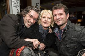 Shay Gillan, Marie Namcarrow and Johnny McMeekin at The Lonely Poet, Belfast.