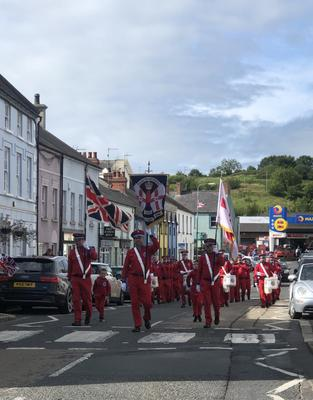 Twelth of July celebrations in Killyleagh. Sent in by Heather Hagan.