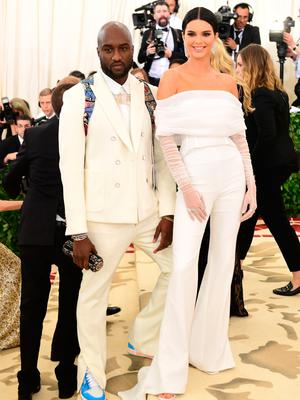 Kendall Jenner and Virgil Abloh attending the Metropolitan Museum of Art Costume Institute Benefit Gala 2018 in New York, USA. PRESS ASSOCIATION Photo. Picture date: Monday May 7, 2018. See PA story SHOWBIZ MET Gala. Photo credit should read: Ian West/PA Wire