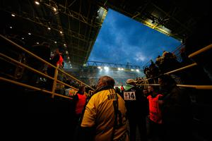 DORTMUND, GERMANY - APRIL 11:  A Borussia Dortmund fan in a Marc Bartra shirt waits for news inside the stadium after an explosion near the Borussia Dortmund team coach prior to the UEFA Champions League Quarter Final first leg match between Borussia Dortmund and AS Monaco at Signal Iduna Park on April 11, 2017 in Dortmund, Germany.  The match was eventually postponed due to the incident.  (Photo by Dean Mouhtaropoulos/Bongarts/Getty Images )