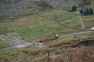 The Old Military Road was also affected and remains shut (BEAR Scotland/PA)