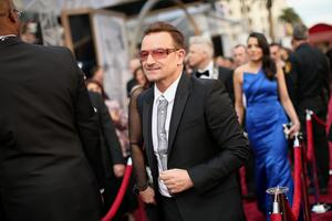 HOLLYWOOD, CA - MARCH 02:  Musician Bono attends the Oscars held at Hollywood & Highland Center on March 2, 2014 in Hollywood, California.  (Photo by Christopher Polk/Getty Images)