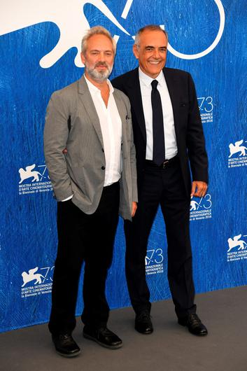 VENICE, ITALY - AUGUST 31:  'Venezia 73' jury president Sam Mendes and direxctor of the festival Alberto Barbera attend the photocall of the jury during the 73rd Venice Film Festival on August 31, 2016 in Venice, Italy.  (Photo by Ian Gavan/Getty Images)