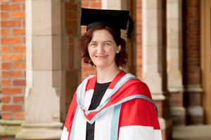 Emma Donoghue, author of international best-selling novel Room, received her honorary degree for distinction in the arts and literature from Queen's University Belfast.