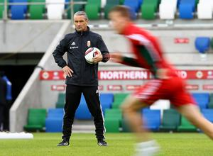 Press Eye - Belfast -  Northern Ireland - 06th September 2015  Photo by William Cherry  Hungary manager Bernd Storck during Sundays training session at Windsor Park ahead of Monday nights Euro 2016 Qualifier against Northern Ireland.