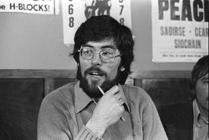Gerry Adams at Press conference in Lake Glen Hotel. Pacemaker Press Intl.  26/4/79.  99/79/BW