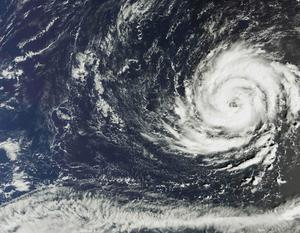 "A handout satellite image captured by the The Copernicus Sentinel-3A satellites OLCI instrument on October 11, 2017 and released by the European Space Agency (ESA) on Octob er 15, 2017 shows Hurricane Ophelia over the Atlantic Ocean about 1300 km southwest of the Azores islands. Hurricane Ophelia strengthened to a Category 3 storm as it passed near the Portuguese Azores archipelago on Octoer 14 on route for Ireland. Five counties in the west of Ireland will be placed on red alert for ""severe"" weather conditions from October 16 morning to early October 17, the Irish Meteorological Service said. / AFP PHOTO / EUROPEAN SPACE AGENCY / - / RESTRICTED TO EDITORIAL USE - MANDATORY CREDIT ""AFP PHOTO / ESA "" - NO MARKETING NO ADVERTISING CAMPAIGNS - DISTRIBUTED AS A SERVICE TO CLIENTS  -/AFP/Getty Images"
