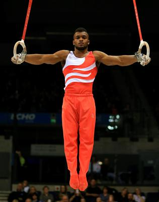 Courtney Tulloch on the rings during the Artistic Gymnastics British Championships 2016 at the Echo Arena, Liverpool. PRESS ASSOCIATION Photo. Picture date: Sunday April 10, 2016. See PA story GYMNASTICS British. Photo credit should read: Nigel French/PA Wire. RESTRICTIONS: EDITORIAL USE ONLY, NO COMMERCIAL USE WITHOUT PRIOR PERMISSION, PLEASE CONTACT PA IMAGES FOR FURTHER INFO: Tel: +44 (0) 115 8447447.