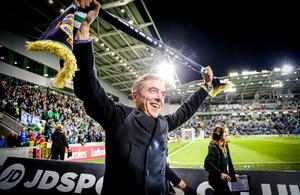 Picture - Kevin Scott / Press Eye  James Nesbitt  Belfast - Northern Ireland - 8th October 2016 - The National Football Stadium at Windsor Park Opening Game and Ceremony Northern Ireland vs San Marino 2018 FIFA World Cup Qualifier  Photo by Kevin Scott  / Press Eye