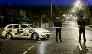 Pictured is police officers and forensics at the scene of an incident on Station Road in Greenisland on January 19, 2016 ( Photo by Kevin Scott )