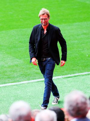 LIVERPOOL, ENGLAND - SEPTEMBER 09: Liverpool manager Jurgen Klopp during the opening of  the new stand and facilities  at Anfield on September 9, 2016 in Liverpool, England. (Photo by Barrington Coombs/Getty Images)