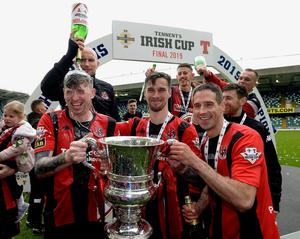 EYES ON THE PRIZE: The Irish FA are determined that the Irish Cup Final will conclude the 2019/20 season in early August