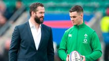Ireland coach Andy Farrell (left) and captain Johnny Sexton were the first to try and explain their side's defeat to England