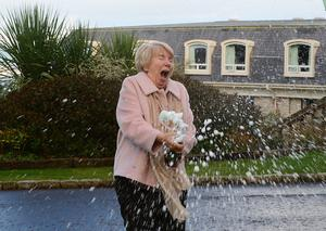 Mary Hamilton from Newtownabbey plans to splash out after scooping £12.9m Euromillions jackpot. Picture by: Arthur Allison.