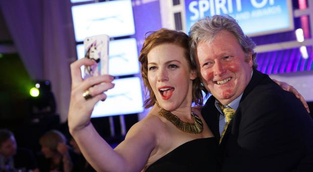 Press Eye - Belfast - Northern Ireland - 30th May 2014 - Picture by Kelvin Boyes / Press Eye Spirit of Northern Ireland Awards at the Culloden Hotel Belfast. Niamh McGrady and Charlie Lawson