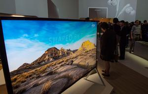 An 85 inch 4K Ultra HD TV is on display at the booth of Japan's electronics giant Sony ahead of the opening of the 55th IFA (Internationale Funkausstellung), on September 2, 2015 in Berlin. IFA, one of the world's biggest consumer electronics shows, opens for the media before the public is invited from September 4 to 9.  AFP PHOTO / JOHN MACDOUGALLJOHN MACDOUGALL/AFP/Getty Images