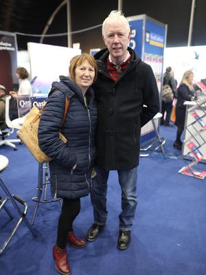 Travel show vox pop Ben and Marie Ritchie. photos by peter Morrison