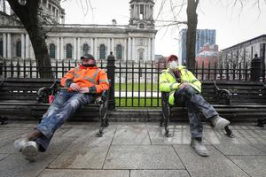 Belfast City centre at lunchtime on Monday 23rd March 2020 Photo by Kelvin Boyes / Press Eye