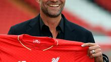 Fresh face: Jurgen Klopp is unveiled at Anfield