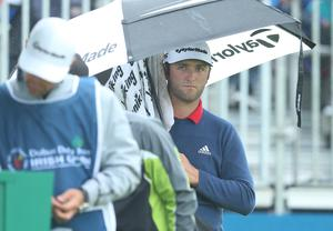 Press Eye - Belfast - Northern Ireland - 9th July 2017   Day four of the Dubai Duty Free Irish Open Hosted by the Rory Foundation at Portstewart Golf Club, Co.Derry / Co. Londonderry, Northern Ireland.  Jon Rahm on the 1st tee  Picture by Matt Mackey / presseye.com