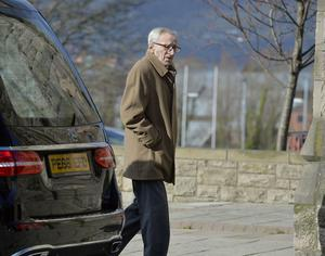 John Campbell arrives for Barney Eastwood's funeral at Colmcille's Church in Holywood, Co Down.  Friday 13th  March 2020