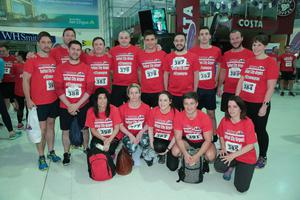 GRANT THORNTON RUNWAY RUN SCALES NEW HEIGHTS The team from Pearson get warmed up for last nightÕs Grant Thornton Runway Run at Belfast City Airport. The hugely-popular event attracted a record number of runners as 600 local businessmen and women took part in the 5k run on the tarmac of the airport. Teams of four from organisations across a wide range of sectors came together for the third year of the leading business advisory firmÕs event. Ê