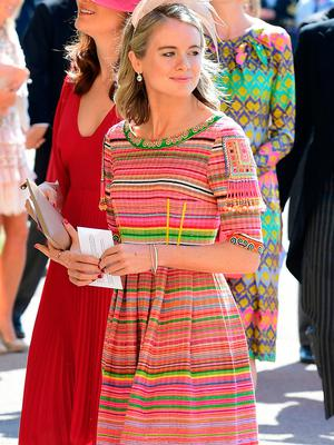 WINDSOR, UNITED KINGDOM - MAY 19:  Cressida Bonas arrives at St George's Chapel at Windsor Castle before the wedding of Prince Harry to Meghan Markle on May 19, 2018 in Windsor, England. (Photo by Ian West - WPA Pool/Getty Images)