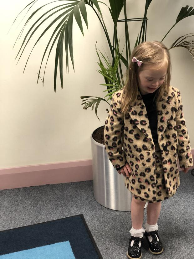 Six years old Lucie Elliott from Waringstown, who has Down's Syndrome, is a star in the making, having featured in a number of television and billboard advertising campaigns.
