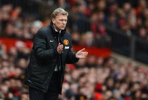 MANCHESTER, ENGLAND - FEBRUARY 09:  Manchester United Manager David Moyes reacts during the Barclays Premier League match between Manchester United and Fulham at Old Trafford on February 9, 2014 in Manchester, England.  (Photo by Michael Regan/Getty Images)