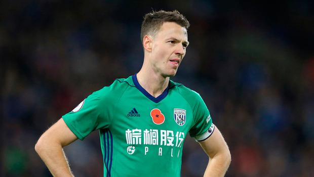 Sheer agony: Jonny Evans had to suffer relegation with West Brom