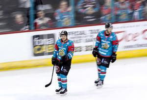 Press Eye - Belfast -  Northern Ireland - 25th March 2018 - Photo by William Cherry/Presseye  Belfast Giants Brendan Connolly celebrates scoring against the Dundee Stars during Sunday afternoon's Elite Ice Hockey League game at the SSE Arena, Belfast.