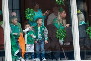 High higher view for some at the All KInds of Everything Spring Carnival in Derry~Londonderry as part of a weekend of celebrations marking St. Patrick's Day. Picture Martin McKeown. 17.3.13