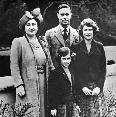 File photo dated 01/01/1938 of King George VI, his wife Queen Elizabeth and their two daughters, Princess Elizabeth (now Queen Elizabeth II, right) and Princess Margaret as the Queen turns 90 on the April 21st. PRESS ASSOCIATION Photo. Issue date: Sunday April 3, 2016. See PA story ROYAL Birthday. Photo credit should read: PA Wire