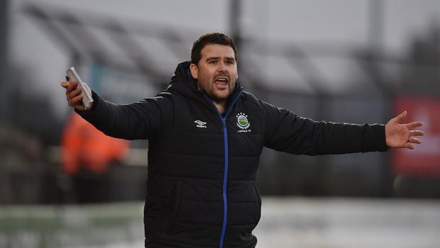 Linfield manager David Healy.