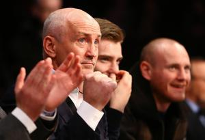 Barry McGuiggan pictured at the Manchester Arena as they prepare to watch Carl Frampton and Scott Quigg during Saturday nights World Super-Bantamweight unification clash.