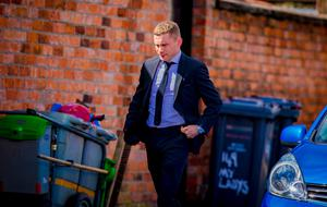 Carl Frampton as the funeral of Jayden Morrow takes place and as Super Heroes gather at Willowfield Church in Belfast on August 9th 2017 (Photo by Kevin Scott / Belfast Telegraph)