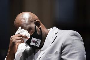 Philonise Floyd as he describes the pain of losing his brother during a House Judiciary Committee hearing (Erin Schaff/The New York Times via AP, Pool)