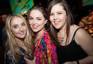 Payton Doherty, Mollie Summers, Terri-Anne McAlan at Stiff Kitten, Belfast