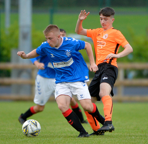 Turning heads: Charlie Lindsay stars for Rangers at last year's SuperCupNI