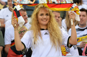 The beautiful game - football fans from around the world - Supporters show their banners for Bastian Schweinsteiger during the international friendly match between Germany and Finland at Borussia-Park on August 31, 2016 in Moenchengladbach, Germany.  (Photo by Sascha Steinbach/Bongarts/Getty Images)