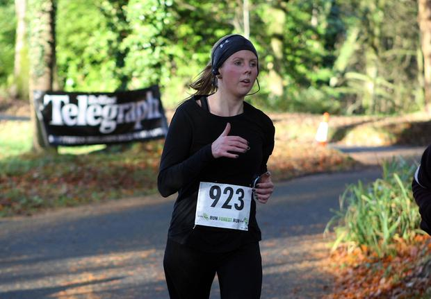 Mandatory Credit - Picture by Freddie Parkinson/Press Eye © Saturday 19th November 2016 Belfast Telegraph Run Forest Run Drum Manor Forest Park, Drum Road, Cookstown BT80 9RT Claire Gregory from Newcastle