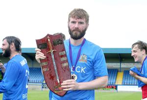 McCourt helped Glenavon win the Charity Shield against Crusaders.  Picture by Jonathan Porter/Press Eye