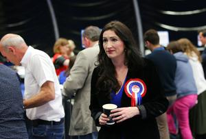 Emma Little Pengelly, Democratic Unionist Party pictured at the election count at Titanic Exhibition Centre Belfast for Belfast South, Belfast West, Belfast East and Belfast North. Photo by Kelvin Boyes / Press Eye.