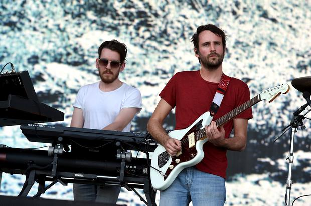 Stage stars: Edwin Congreave and Jimmy Smith of Foals