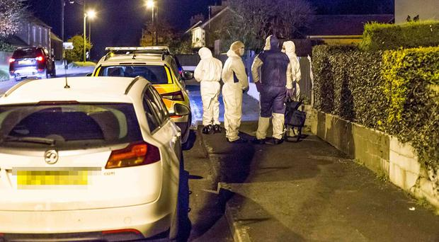 08/11/19 Police hold the scene of an incident at Rockfield Gardens in Mosside County Antrim. Pic Steven McAuley/McAuley Multimedia