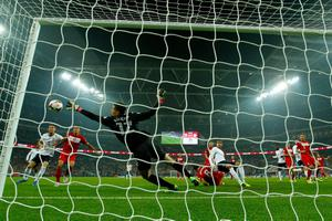 Wojciech Szczesny of Poland makes a save during the FIFA 2014 World Cup Qualifying Group H match between England and Poland at Wembley Stadium on October 15, 2013 in London, England.  (Photo by Paul Gilham/Getty Images)