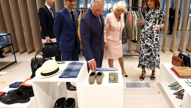 Charles and Camilla tour the new tech hub (Henry Nicholls/PA)