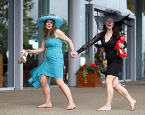 Racegoers leave the course after day three of the Royal Ascot meeting at Ascot Racecourse, Berkshire. PRESS ASSOCIATION Photo. Picture date: Thursday June 20, 2013. See PA story RACING Ascot. Photo credit should read: Steve Parsons/PA Wire